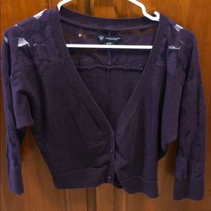 Purple lace sweater